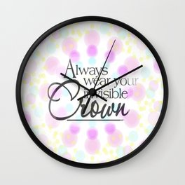 invisible crown Wall Clock