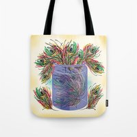feathers Tote Bags featuring Feathers by famenxt