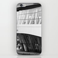 mercedes iPhone & iPod Skins featuring MERCEDES-BENZ MUSEUM by GL-ART-PHOTOGRAPHY