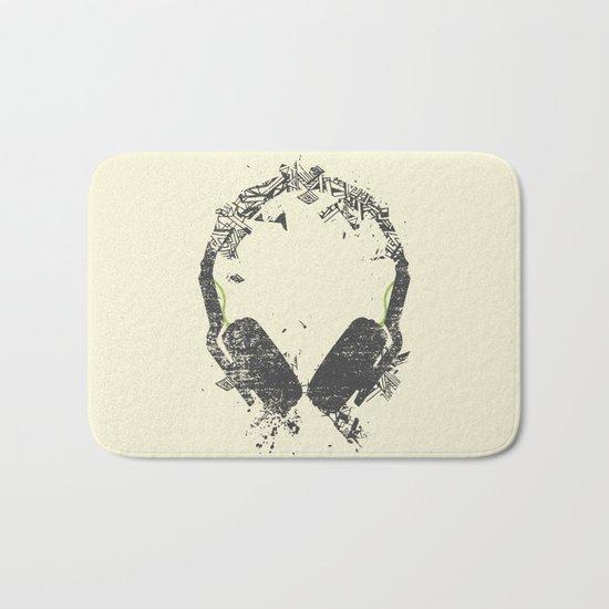 Art Headphones V2 Bath Mat