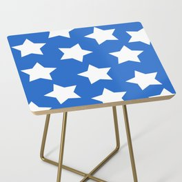 Cheerful Blue Star Print Side Table