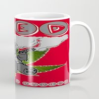 cannabis Mugs featuring TIMMY THE CANNABIS BEAR  by Timmy Ghee CBP/BMC Images  copy written