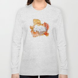 Cat and Golden Fishes Long Sleeve T-shirt