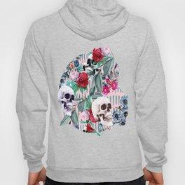 Flowers and Skulls (Pink) Hoody