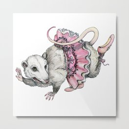 'Possum en Pointe Metal Print