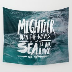 Mightier than the Sea Wall Tapestry