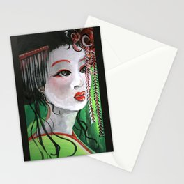 Geisha in Willows: The Arrogant Concubine Stationery Cards