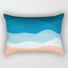 Lone Surfer On The Beach Rectangular Pillow