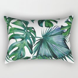 Tropical Palm Leaves Classic Rectangular Pillow