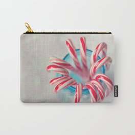Happy Holidays, Christmas and Winter Photography, Candy Cane Carry-All Pouch