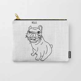 Hello Frenchie Carry-All Pouch