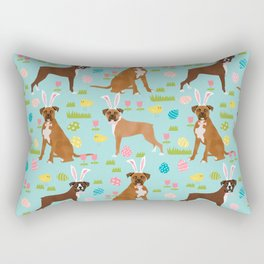 Boxer dog breed pet art easter spring dog gifts boxer dogs pure breed Rectangular Pillow
