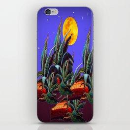 Desert Agaves Full Moon Purple Evening Landscape iPhone Skin