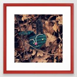 woodland spirit - teal and black bunny Framed Art Print