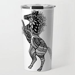 Rearing Horse Zentangle (abstract doodle) Travel Mug