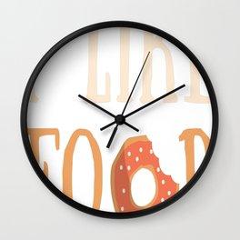 Food t-shirt Wall Clock