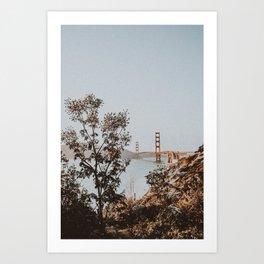 san francisco, california / golden gate bridge Art Print