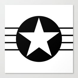 Black And White Star Canvas Print