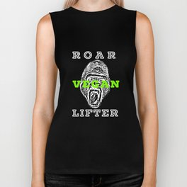 Roar Vegan Lifter Gorilla Bodybuilding Biker Tank