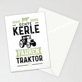 Echte Kerle Fahren Traktor Stationery Cards