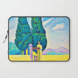12,000pixel-500dpi - Paul Signac - Two cypresses - Digital Remastered Edition Laptop Sleeve