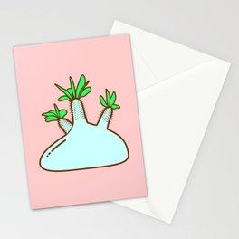 Pachypodium gracilius Plant Stationery Cards