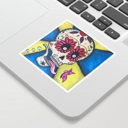 Butterfly Sugar Skull Sticker