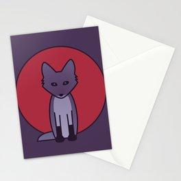 Purple Fox - Kitsune Visits Japan Stationery Cards