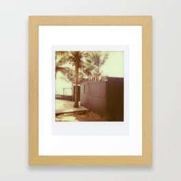Vintage Polaroid Palm Trees (iPhone Case) Framed Art Print