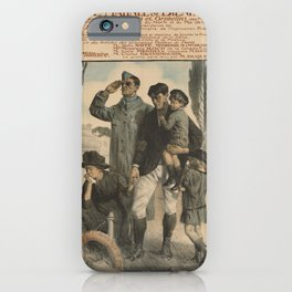 Vintage First World War Poster - Charity Matineé in Favor of Widows and Orphans (1917) iPhone Case