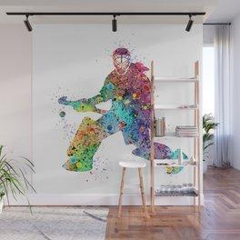 Girl Field Hockey Goalie 2 Watercolor Artwork Sports Art Gifts Home Decor Wall Mural