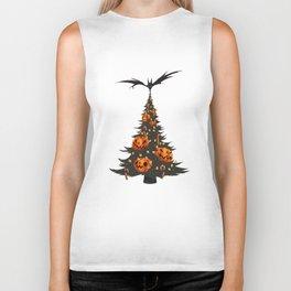 Halloween Christmas Tree - White Biker Tank