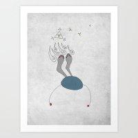 night sky Art Prints featuring Night Sky by sinonelineman
