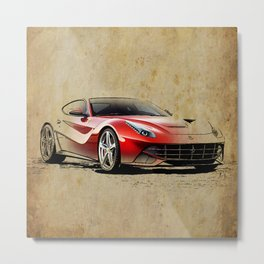 Ferrari F12 red awesome ferrari Metal Print
