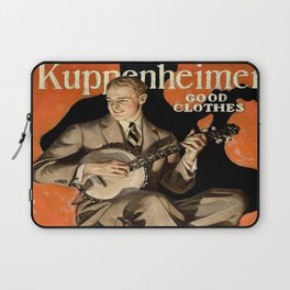 Banjo Player; Vintage Men's Fashion Poster Laptop Sleeve