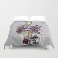 lungs Duvet Covers featuring lilac lungs. by Les Garcons Sauvages