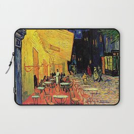 The cafe terrace on the place du forum, Arles, at night, by Vincent van gogh.  Laptop Sleeve