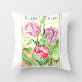 Old Bulbs & Seeds Pack Throw Pillow
