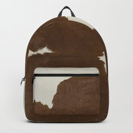 Dark Brown & White Cow Hide Backpack