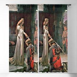 12,000pixel-500dpi - Edmund Blair Leighton - Accolade - Edmund Blair Leighton Blackout Curtain