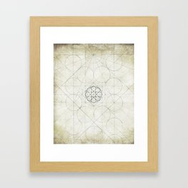 Geometry Sketch Four Framed Art Print