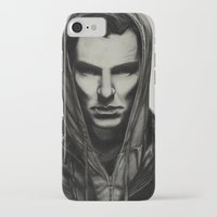 benedict cumberbatch iPhone & iPod Cases featuring Benedict Cumberbatch by Charlotte Hussey