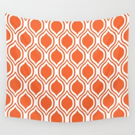 University sports clemson purple and white ogee pattern minimal college football fan Wall Tapestry