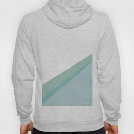 Diagonal colors - Mint Hoody