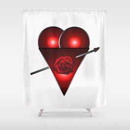 21st century Love Heart Shower Curtain