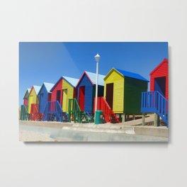 Beach houses at Muizenburg Metal Print