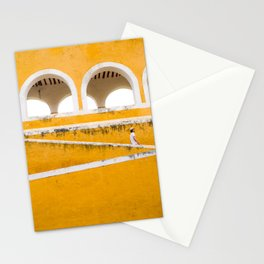 Colonial Mexico, Izamal in Yellow #buyart #society6 #decor Stationery Cards