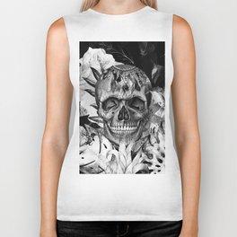 Black White Boho Skull Biker Tank