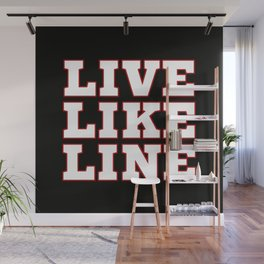 Live Like Line Volleyball Wall Mural