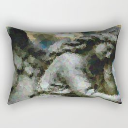 Geometric Angel Statue Rectangular Pillow
